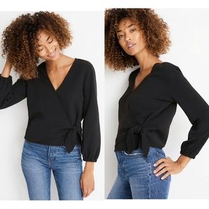 | Madewell | texture and thread | tie crepe top